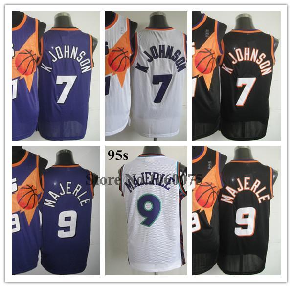 Basket Phoenix 9 Dan Majerle Jersey all star 1995 White 7 Kevin Johnson Jersey Purple Black Basketball Jersey Cheap Shop(China (Mainland))