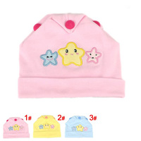 Retail free shipping Knit cotton newborn bone cap hat baby beanie comfortable toucas de inverno gorros hats QH00061