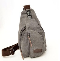 large canvas chest bags for men Vintage casual male sling backpack free shipping #M0062