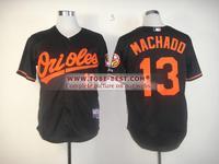 2014 Real Throwback Baseball Jerseys #13 Machadd Machado Mens Baseball Jersey,new Brand Embroidery Logos,mix Order,size M-xxxl