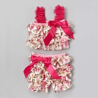 Newest Hot Selling Baby Girl Ruffled Clothing Set And Pant Outfit Infant baby clothing Free Shipping Wholesale Carters Baby Girl