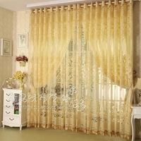 Fashion high quality window screening curtain finished product tulle curtains Without Blackout Lining Curtain modern curtains
