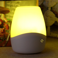 Voice light control nightlight led energy-saving socket lamp bedroom bedside lamp infant feeding lamp baby lamp