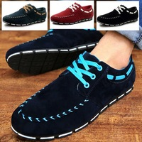 tenis feminino promotion solid rubber suede flat with new 2014 summer men shoes breathable fashion men's sneakers casual lace-up