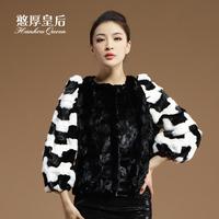 Queen 2014 mink hair fur overcoat women's fight mink fur coat