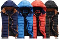 Sport Outdoor Waterproof Men's Winter Vest male colorful waistcoat sleeveless jacket fashoin new 2014 plus size S-XXL MA08