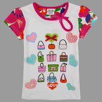2014 new fashion  NOVA kids wear lovely peppa pig short sleeve T-shirts for baby girls Free Shipping K4193