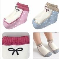 Hot sale baby girl bowknot statement modelling baby socks