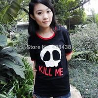 2014 new summer men women clothing anime Gin Tama black o-neck Cosplay costume cotton Casual t-shirt tops