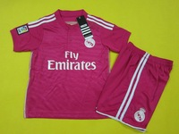 2015 Real Madrid home away kids soccer jerseys, soccer uniforms for kids, kids football shirt with shorts