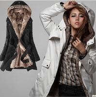 NAIULA New Plus Size Faux Fur Lining Ladies' Long Hooded Warm Cotton Coat Parka Down & Parkas Winter Coat Women Thick  AS1267