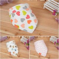Free Shipping Baby Bib 100% Cotton Cartoon  Towel  Boy and Girl  Bibs Hot Sale 3 pcs/lot