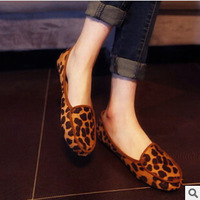 2014 Europe and America comfortable tide leopard shoes single shoes women's shoes flat shoes 019 8807