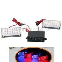 Set Car 22 LED Strobe Emergency Light 3 Flashing Modes free shipping