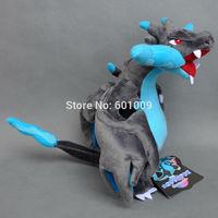 "Free Shipping New POKEMON CENTER Original Plush Doll Mega Charizard X Good Quality 10"""