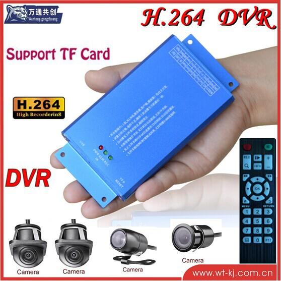 TF card Car DVR HD 4ch 1080P Carmera Car DVR full HD +4 pcs car camera(China (Mainland))