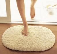 Free Shipping Household items absorbent mats Fashion Oval Threads Microfiber  Mat /Bath Rug Door car mat