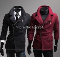 New arrivals  men's  outerwear men woolen overcoat
