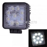 Free shipping White 9 LED High Power Fog Backup Car Truck Light Lamp Bulb 27W Waterproof