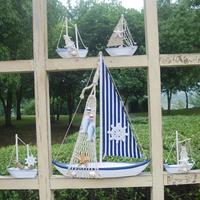 5pcs Mediterranean Ship marine furnishing decorative ornaments decoration Nautical Decor  Sailing Ship-Free shipping
