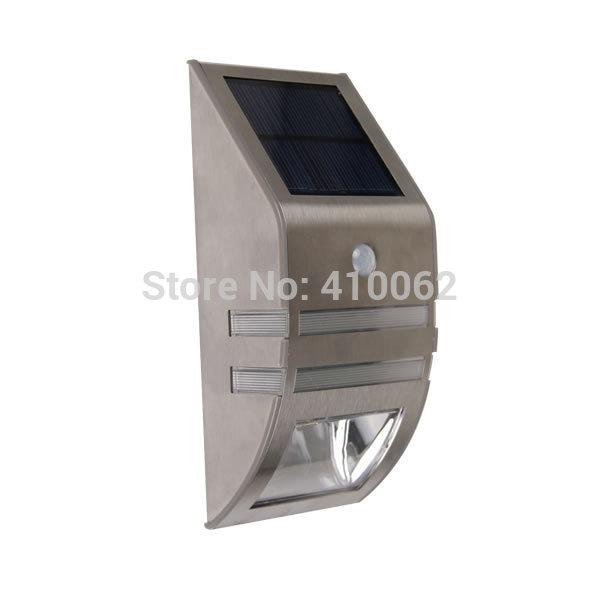 LED day white Stainless Steel Solar Motion Sensor Door Decorate Garden Balcony Yard Lamp Wall Light(China (Mainland))