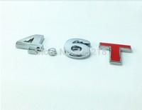 4.6T Turbo Metal Rear Trunk Emblem Badge Decal Sticker