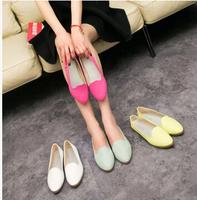 2014  Europe  Fashion  Women's Retro shoes  soft leather shoes women fashion pu Flats  solid shoes
