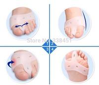 free shipping foot care Gel bunion corrector for Big toe hallux valgus Gel bunion protector toe spreader