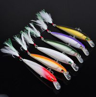 30pc New 6 Color minnow Fishaing Lures Exported to USA Market Fishing Tackle 11.5cm/13.4g Fishing Bait Retail Box FreeShipping