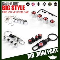 Top Quality MINI emblem Tire Tyre Valve Stem Cap Anti-theft Wheel Cap,Union Jack,Black Jack emblem 4pcs/set Free Shipping