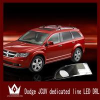 Special Car Design 7 LED DRLDodge jcuv dedicated line drl Car LED Daytime running light cover for Dodge jcuv DRL Free shipping