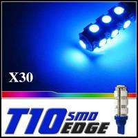 10 x Blue 13 SMD 5050 LED T10 Car Dome Wedge Bulb 184 194 Lights 43mm x 10mm