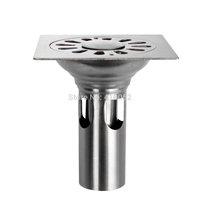 Stainless Steel Deep Bathroom Shower Stall Drainer Strainer Drain Protector Cover floor drain
