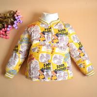 Top quality Fashion children outerwear liner bear design short down coat boy down jacket Size 90-110