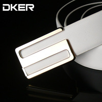 Hot! ! ! Ms. cow leather men's belts new Korean version of casual smooth S-shaped belt buckle PD506