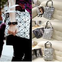 FREE SHIPPING Top PVC Women's Brand Tote Summer Handbag Designer Fashion Patchwork Ladies Shoulder Shopping Bag