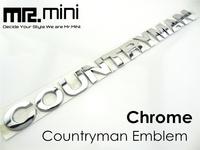 NEW Countryman Emblem Car Badge Metal Chrome Sticker For MINI Country 2.5cm Sliver 1 set FreeShipping
