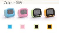 Free Shipping 1Piece Retro TV Alarm Clock / Desktop Alarm Clock with Thermometer & LED Night Light