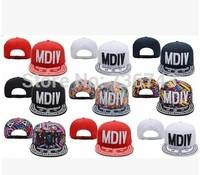 1 pc/lot 2014  Free Shipping Unisex MDIV Dason  BBOY Snapback Hip Hop Cap Baseball Skateboard Hat YS9299