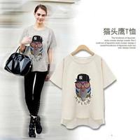 2014 Hot Sale Fashion Blusas Top Women Blouses Femininas T-shirt Cotton Plus Size Clothing Short-sleeve Modal Female Loose