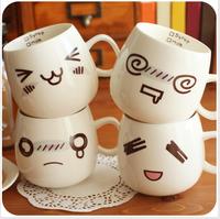 creative expression cup ceramic mug cup milk breakfast