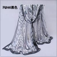 Long Chiffon Silk Scarf/1PC 50*160cm Trendy design big long comma Print scarf/WJ-278
