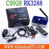 CS928 Android 4.4 kitkat Rk3288 A17 quad core 2GB 16GB 2.4/5.0Ghz 100M/1000M Lan bluetooth 4.0 5.0 camera 4k*2k xbmc 13.0 tv box