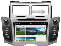 Free Shipping+Android 4.4.2 Toyota Yaris DVD gps 2005-2011+WIFI+BT+Radio+DDR3+Capacitive Touch Screen+3G+Stereo+Audio Silver