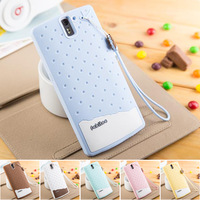 One plus one case, ice cream pattern silicon material back cover case for one plus one