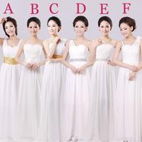 The new dress white chiffon  dresses long inclined shoulder evening dress female big yards. Free shipping