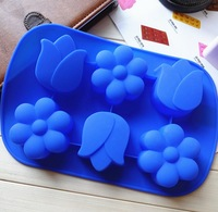 Flower Style Handmade Soap DIY Soap Making Mould Silicone Molds for Soap or Cake or Chocolate