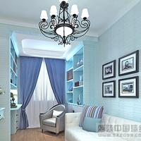 The Mediterranean-style non-woven wallpaper blue wallpaper bedroom living room wallpaper, boys children's room wallpaper /P177