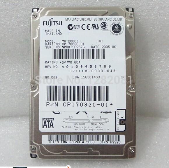 Original 80G 2.5 Inch SATA Laptop Hard Disk MK8052GSX 5400Rpm/8M Serial Port In Stock(China (Mainland))