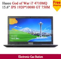 "New Hasee Intel i7 4710MQ 4G DDR3 1TB HDD 15.6"" IPS 1920*1080 NVIDIA GT 750M USB3.0 Game Laptop"